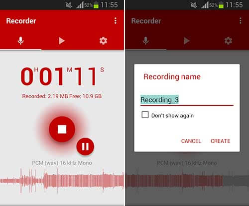 اپلیکیشن Voice Recorder