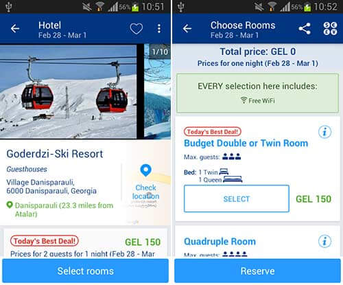 اپلیکیشن Booking.com Hotels